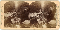 Stereo Great Britain, North Wales, Fairy Glen, Bettws-y-coed, 1894 Vintage Stere