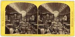 Stereo England London International Exhibition 1862 The Nave From The Western