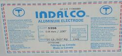 Indalco Aluminum Mig Welding Wire 5356 20 Spool .030 Made In Canada New