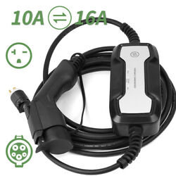 Ev Car Charger 10/16a Level2 J1772 Plug Portable Electric Vehicle Charging Cable