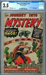 Journey Into Mystery #83 CGC 2.5 (C-OW) Origin & 1st Appearance of Thor