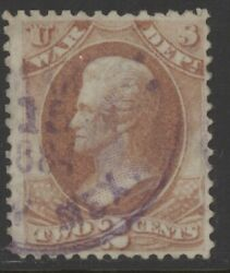 Us O84 Used 2 Cts War Dept Official Stp W/mar 15 1884 New Mexico Cds Territory