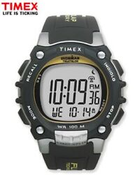 Timex Ironman Flix 100-lap Mens Running Watch T5e231 Dual Time W/ Indiglo New