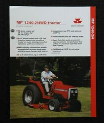 1996 Massey-ferguson Mf 1240 2wd And 4wd Tractor Specifications Brochure Nice