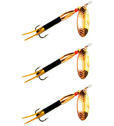 3 Black Gold Tails Swing Blade Bullet Spinners Salmon Trout Pike Bass Sea Lures