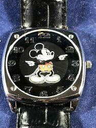 Rare Disney Collection   Large Mickey Mouse Face Men's Watch   Cool Black Face