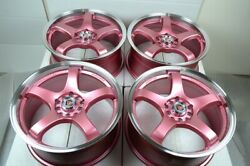 17 pink Wheels Rims Civic Accord Corolla Matrix Celica Eclipse TSX 5x100 5x114.3