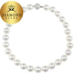 Important South Sea Pearl Necklace with Diamond Clasp