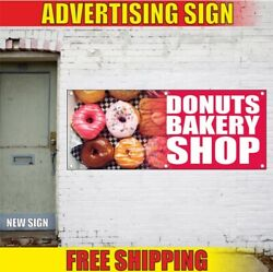 Donuts Bakery Shop Advertising Banner Vinyl Mesh Decal Sign Fresh Candy Best Now