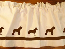 American Staffordshire Terrier Dog Valance or Shower Curtain choice of colors