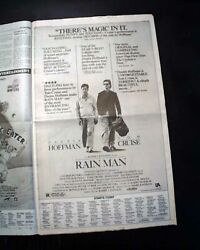 Best Rain Man Film Movie Opening Day Ad And Review 1994 Los Angeles Ca Newspaper