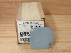 Mulberry 11101 4 Round Outlet Box Cover Flat Blank Pack Of 100