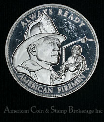 Protect And Serve Policemen Always Ready Firemen Silver Medal 26.5g Sterling