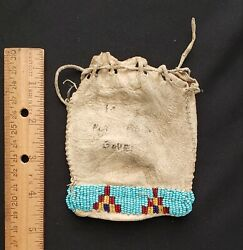 Native American Beaded Pouch , From A Major Collection 12