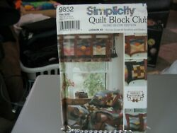Simplicity Shirley Botsford 9234 Sham Quilt Table Topper And Wreath Pattern