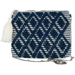 Katydid Clutch Collection Royal and Cream Clutch with Chain $24.95