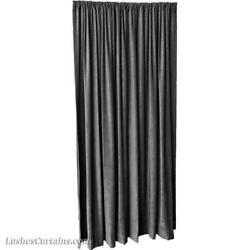 Charcoal Gray 14 Ft H Fire Rated Velvet Curtain Panel W/rod Pocket Tall Drape