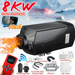 8kw 12v Diesel Air Heater Lcd Thermostat Upgrade 8000w Tank For Car Truck Boat