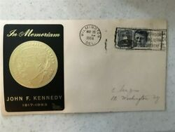President John F. Kennedy Gold Label, Unofficial Wilmington, Delaware, Fdc