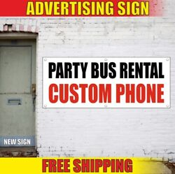 Rental Advertising Banner Vinyl Sign Flag Party Bus New Limo Best Car Shop Auto