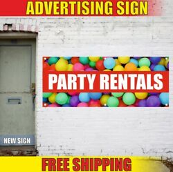 Party Rentals Advertising Banner Vinyl Sign Flag New Best Auto Bus Car Shop Limo