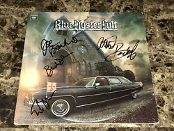 Blue Oyster Cult Rare Band Signed Vinyl Lp Record On Your Feet Or On Your Knees