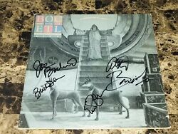 Blue Oyster Cult Rare Band Signed Vinyl Record Extraterrestrial Live Godzilla