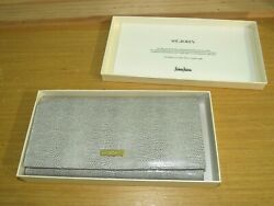 NEW in GIFT BOX ST JOHN EMBOSSED LEATHER TRAVEL WALLET for NEIMAN MARCUS  $49.99