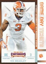 2015 Contenders Draft Picks Game Day Tickets 50 Vic Beasley Clemson Tigers