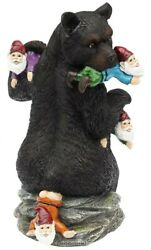 CCOQUS Garden Gnome Massacre 10quot; Bear Eating Gnomes Outdoor Statues Funny