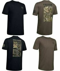 Under Armour 1343564 Menand039s Ua Freedom Flag Camo Hunting Short Sleeve T-shirt