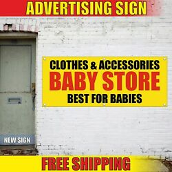 Clothes Accessories Baby Store Advertising Banner Vinyl Sign Flag Best For Child