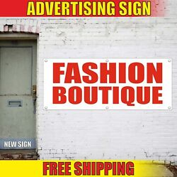 Fashion Boutique Banner Advertising Vinyl Sign Flag Shop Clothes Accessories New