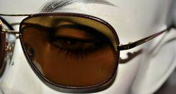 NEW brown leather Chanel Aviator Sunglasses 4162Q glasses no tags $300.00