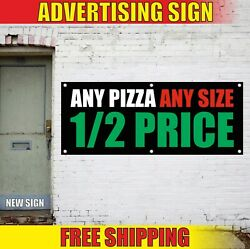 Pizza Banner Advertising Vinyl Sign Flag Fresh Best Slice Italian Pasta Any Size