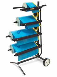 Eastwood Mobile Handy Masking Machine Station Tree Type 4tier Holds 18/12 Rolls