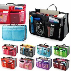 Makeup Cosmetic Bag Travel Case Toiletry Beauty Organizer Zipper Holder Handbag $4.50