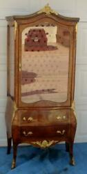 French Curio / China Cabinet / Vitrine / Display Cabinet Gold Mounts