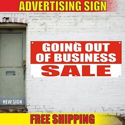 Sale Banner Advertising Vinyl Sign Flag Closing Auction Going Out Of Business