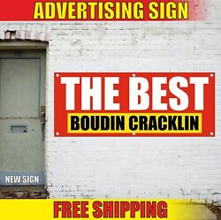 Boudin Cracklin Banner Advertising Vinyl Sign Flag Meats Hot Fresh Balls Best