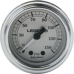 Legends Led Air Pressure Gauge Fairing Mounted Silver Harley Touring Flh/t