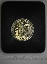 Peoples Mint Society Charter Member 39mm 24kt Gold Plated .999 Silver Medal