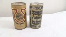 2 Vintage Beer Cans, Oyster House Beer And Horseshoe Curve Beer Pull Tab Beer Cans
