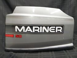 1996 Mariner 50hp Top Cowling Cover Hood 813010a14 Mercury Outboard Boat Motor