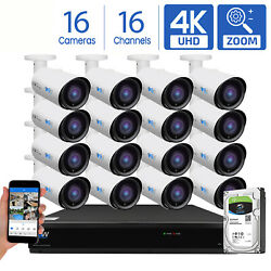 Gw 16 Channel Dvr 16 8mp Cctv Motorized Zoom 4k Outoodor Security Camera System
