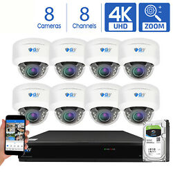 Gw 8 Channel Dvr 8 8mp Cctv Motorized Zoom 4k Dome Home Security Camera System