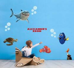 Finding Nemo Dory Personalized Set Wall Sticker Decal Decor Mural Kids Wc213