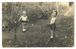 Rppc - Little Boy Boxers In Homemade Boxing Ring - Ca1908 - Rare