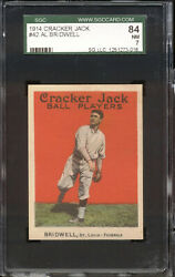 1914 Cracker Jack #42 Al Bridwell -- SGC 847 --  St Louis Terriers (Fed League)