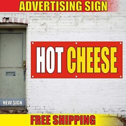 Hot Cheese Banner Advertising Vinyl Sign Flag Grill Sandwich Chili Dog Cafe Cup
